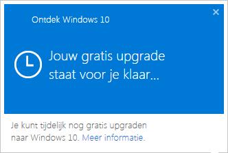 Gratis-upgrade-staat-klaar