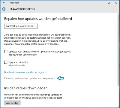 Instellingen Windows Update 2