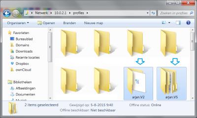 Windows 10 domein zwervende profielen