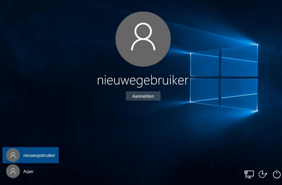 windows10-nieuwegebruiker-aangemaakt