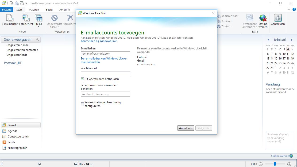 Windows Live ondersteuning afgelopen - download nog